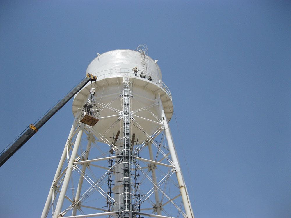 Sazab Sanat Pajouh » Construction of an elevated water tank PISHVA