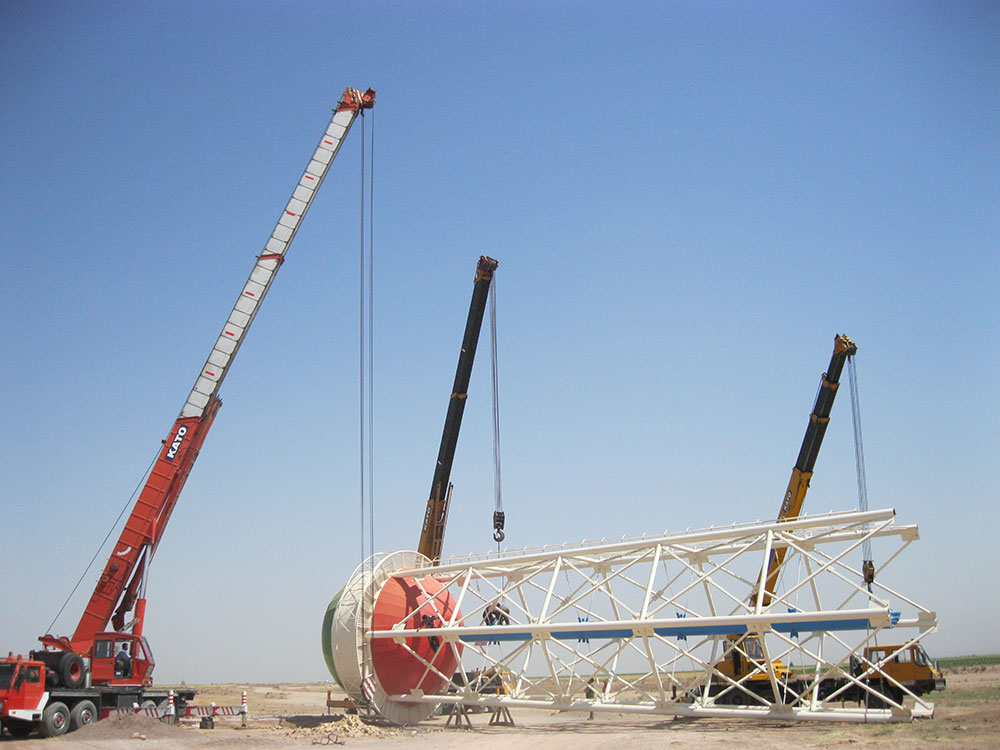 Sazab Sanat Pajouh » Construction of an elevated water tank (500 m3
